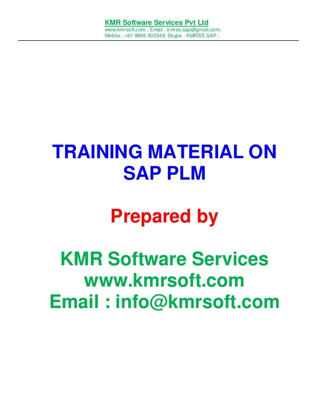 SAP PLM Online Training Complete Hand Book