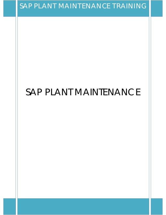 SAP PLANT MAINTENANCESAP PLANT MAINTENANCE TRAINING
