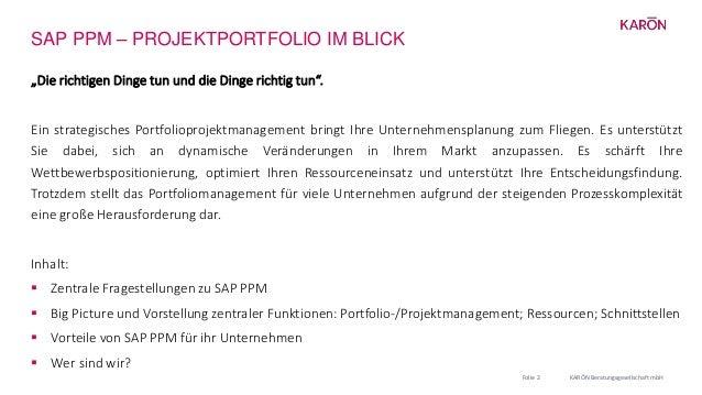 """SAP PPM – PROJEKTPORTFOLIO IM BLICK """"Die richtigen Dinge tun und die Dinge richtig tun"""". Ein strategisches Portfolioprojek..."""