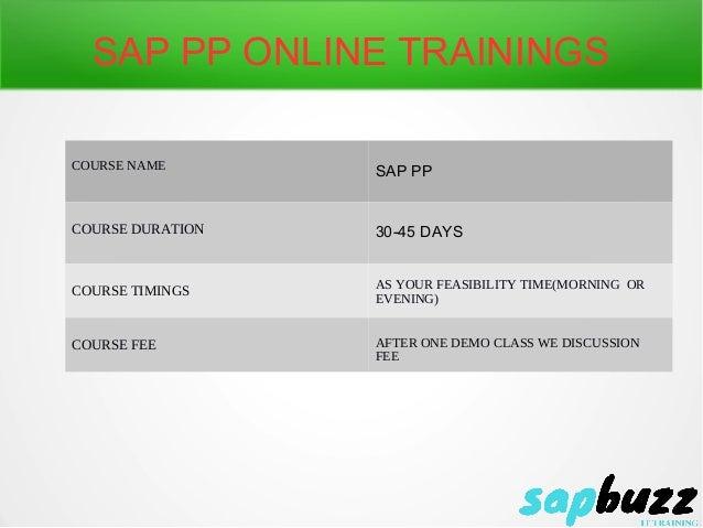 Sap Pp Online Training Sap Pp Online Training And Placement Usa Uk
