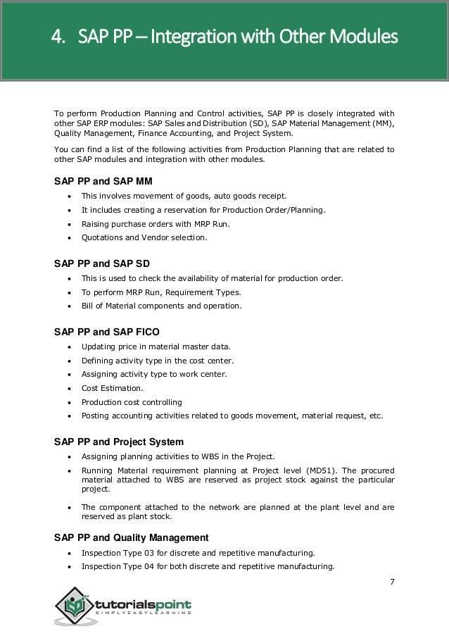 Sap pp tutorial