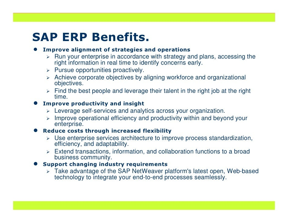 erp benefits presentation
