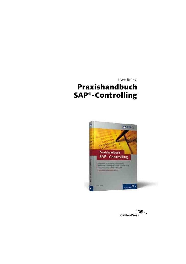 Uwe Brück   Praxishandbuch SAP®-Controlling