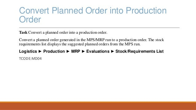 SAP Production Planning and Execution presentation