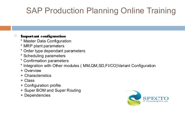 production planning exercise View homework help - sap exercise 6 - production planning from erp 6319 at university of texas at dallas, richardson production planning assignment.