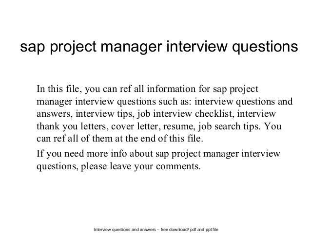 SAP QM Interview Questions - TutorialsPoint
