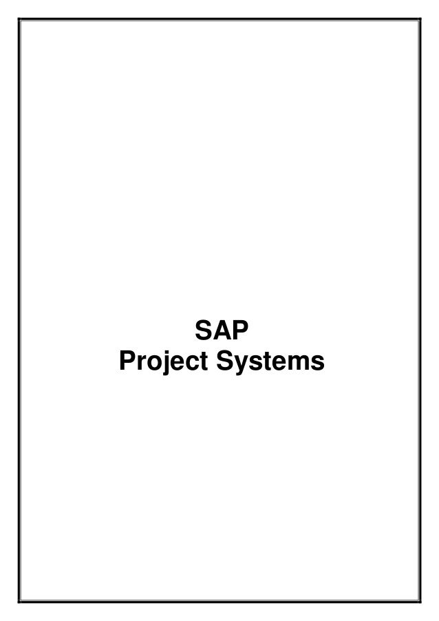 SAP PS Training Guide