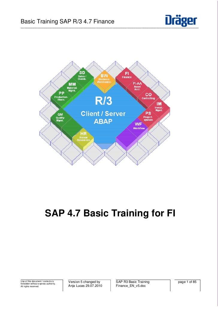 Basic Training SAP R/3 4.7 Finance________________________________________________________________________________________...