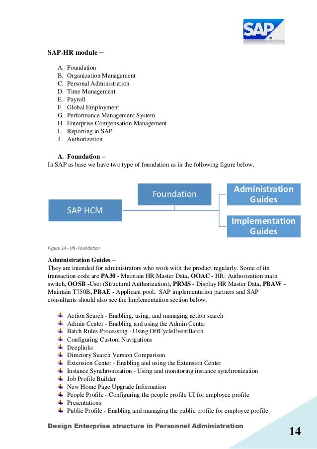 sap hcm mini project report on design enterprise structure in pers rh slideshare net