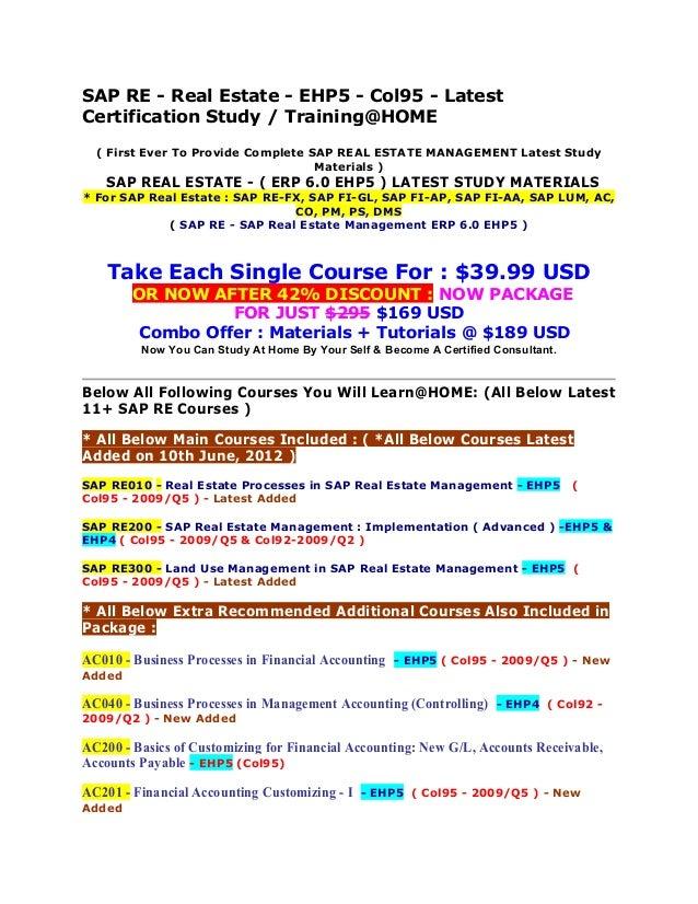 Sap fico study materials