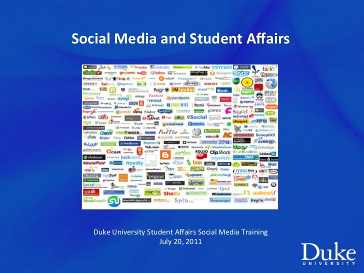 Social	  Media	  and	  Student	  Affairs	                                         	                                       ...