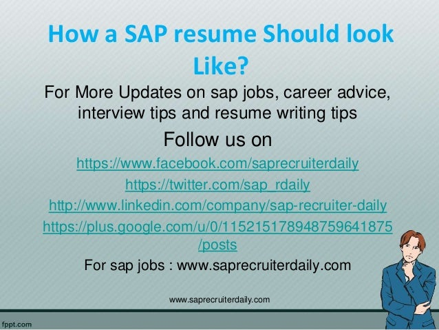 how a sap resume should look