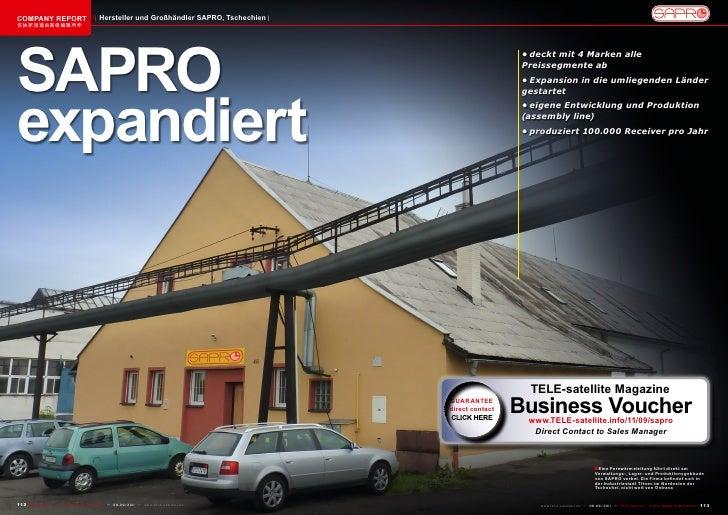 COMPANY REPORT                           Hersteller und Großhändler SAPRO, Tschechien该独家报道由高级编辑所作SAPRO                    ...