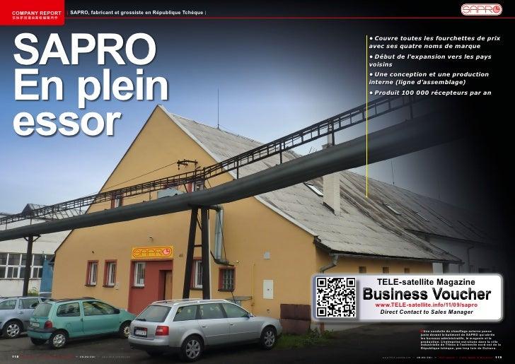 COMPANY REPORT                           SAPRO, fabricant et grossiste en République Tchèque该独家报道由高级编辑所作SAPRO             ...
