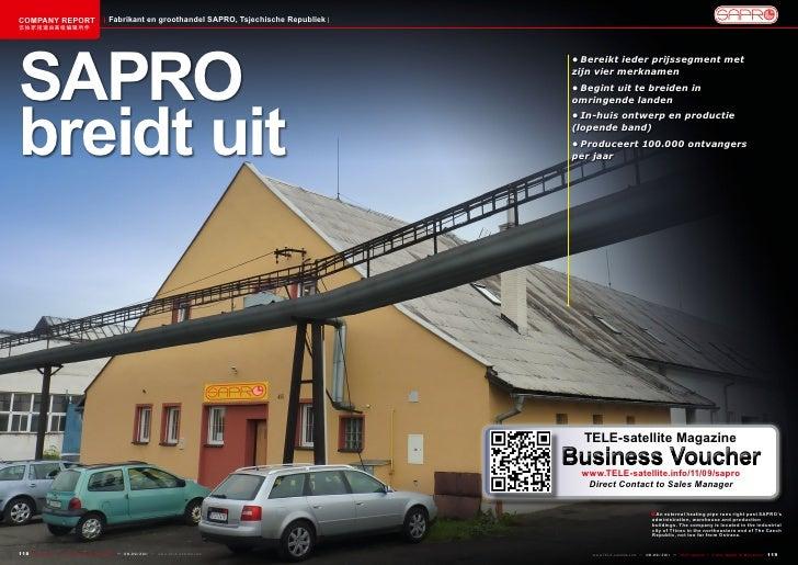 COMPANY REPORT                           Fabrikant en groothandel SAPRO, Tsjechische Republiek该独家报道由高级编辑所作SAPRO           ...