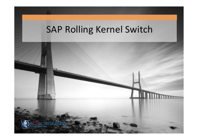 SAP  Rolling  Kernel  Switch