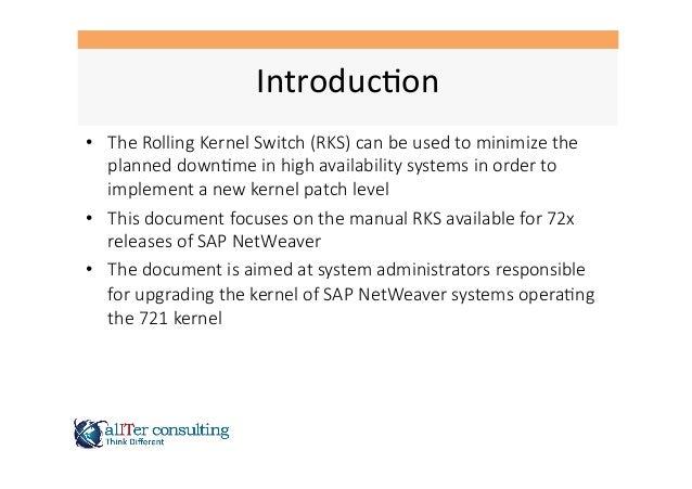 SAP Rolling Kernel Switch RKS Slide 2