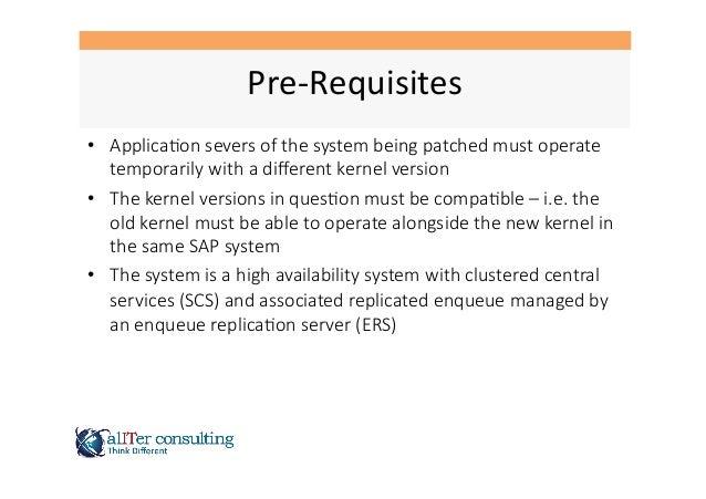 SAP Rolling Kernel Switch RKS Slide 3