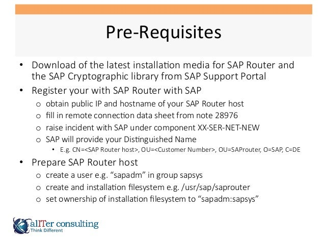 SAP Router Installation with SNC Slide 3