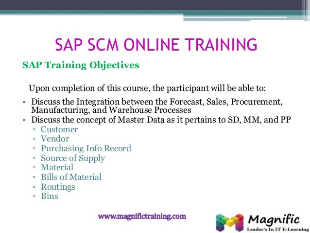 Sap scm erp procurement certification course in online training