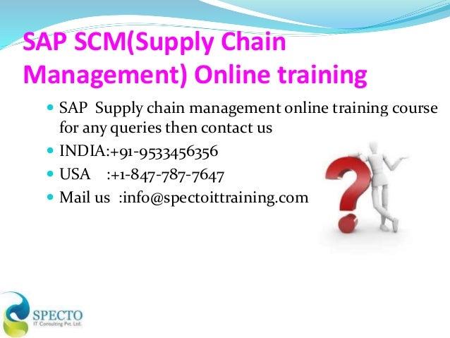 sap scm supply chain management online training in canada. Black Bedroom Furniture Sets. Home Design Ideas