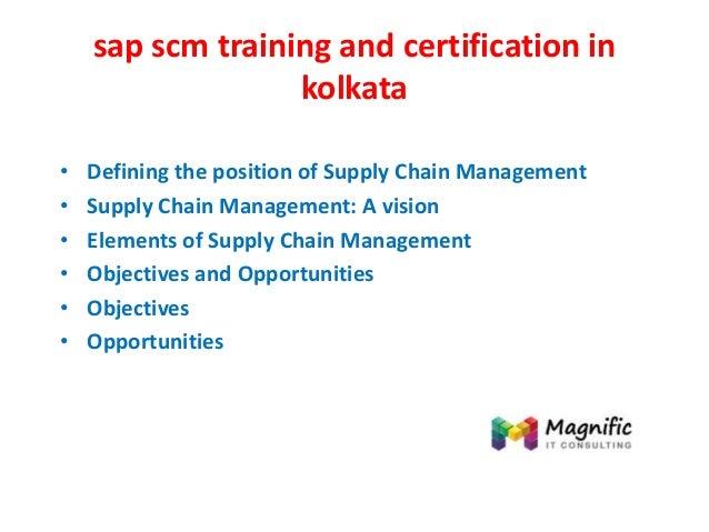 Sap scm training and certification in kolkata