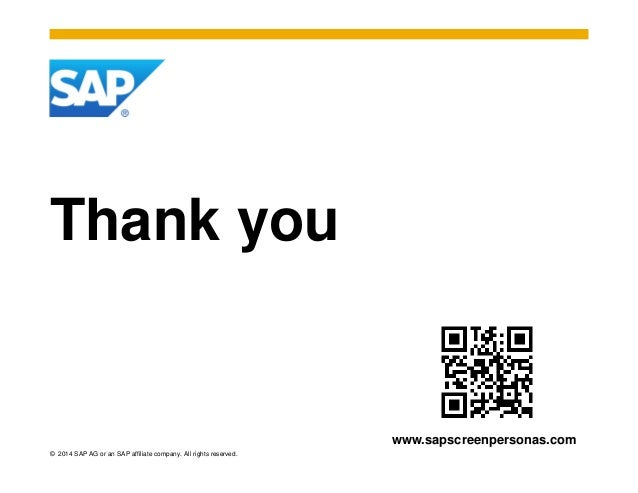 SAP Screen Personas 3.0 Oct 2014