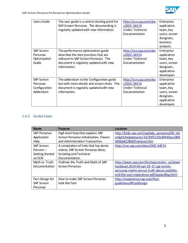 Sap screen personas performance optimization guide v0 96