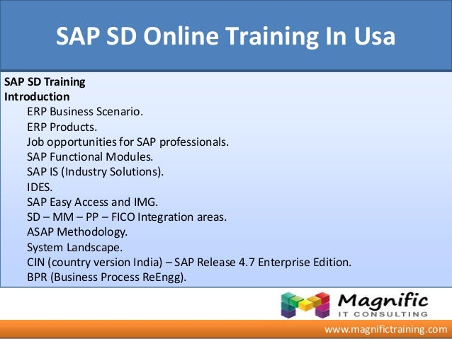 Sap Sd Online Training Australia