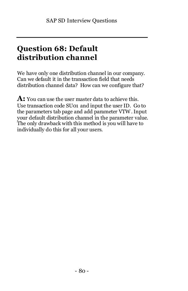 INTRODUCTION - SAP SD Questions and Answers Book