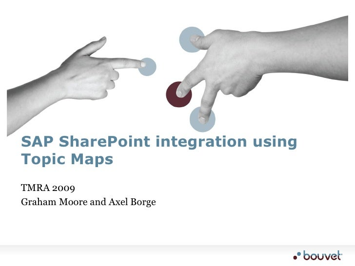 SAP SharePoint integration using Topic Maps TMRA 2009 Graham Moore and Axel Borge