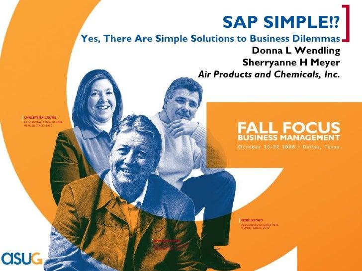 [                                                                           SAP SIMPLE!?                                  ...
