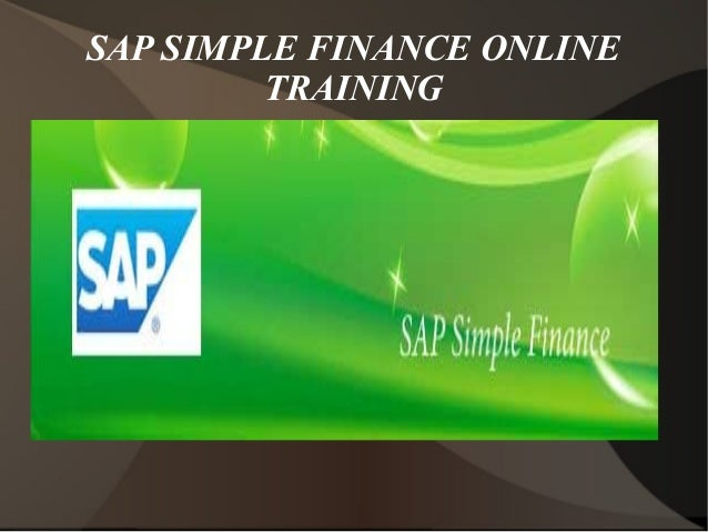 Sap Simple Finance Online Training In Canada