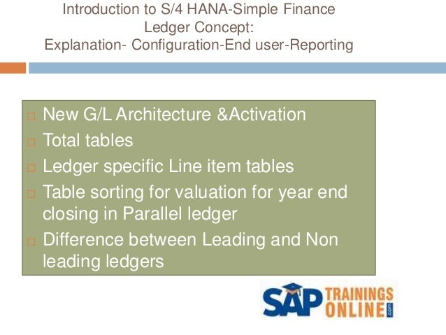 what is sap s4 hana simple finance online training autos