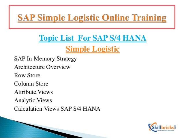 New Batch on SAP Simple Logistics Online Training at SkillBricks