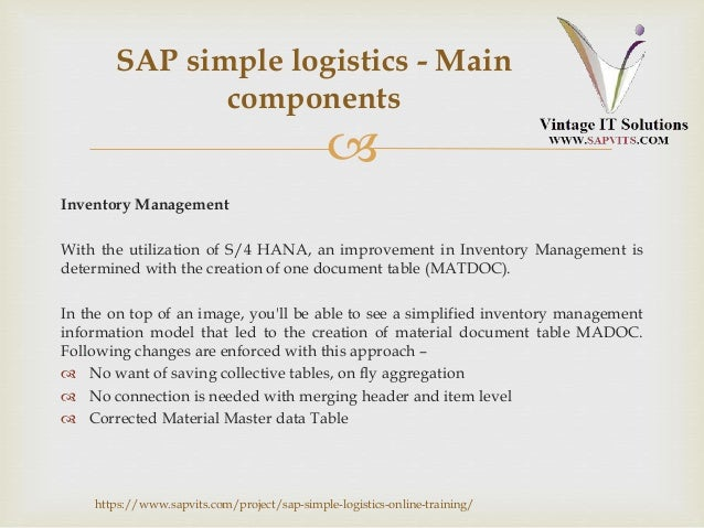 SAP HANA Simple Logistics PPT