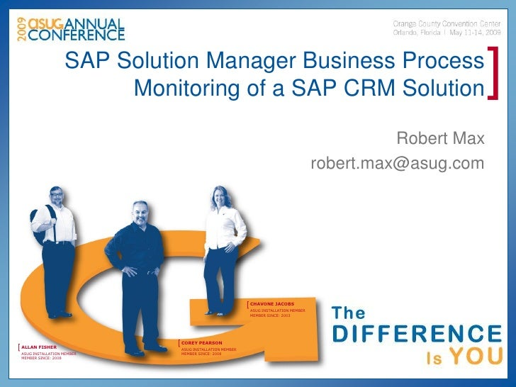 SAP Solution Manager Business Process                         Monitoring of a SAP CRM Solution                            ...