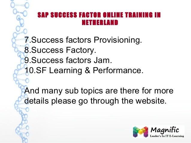 SAP SUCCESS FACTOR ONLINE TRAINING