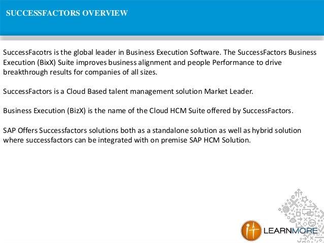 SAP Success Factors Online Training Slide 2