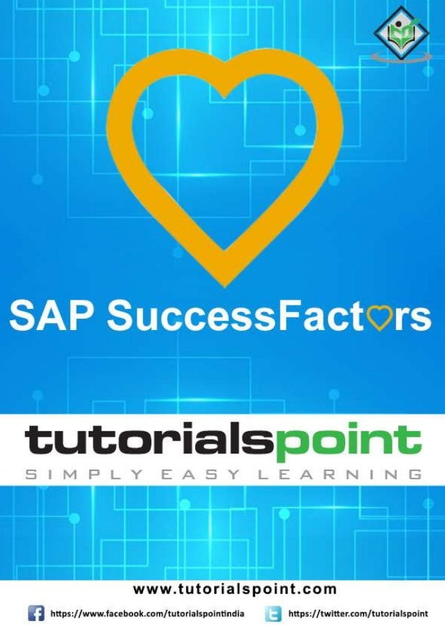 Sap successfactors tutorial