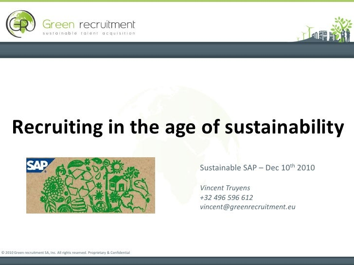 Recruiting in the age of sustainability                                                                                   ...