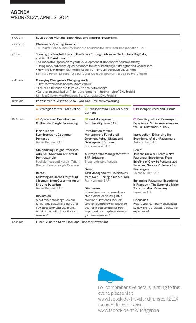 International SAP Conference for Travel and Transportation
