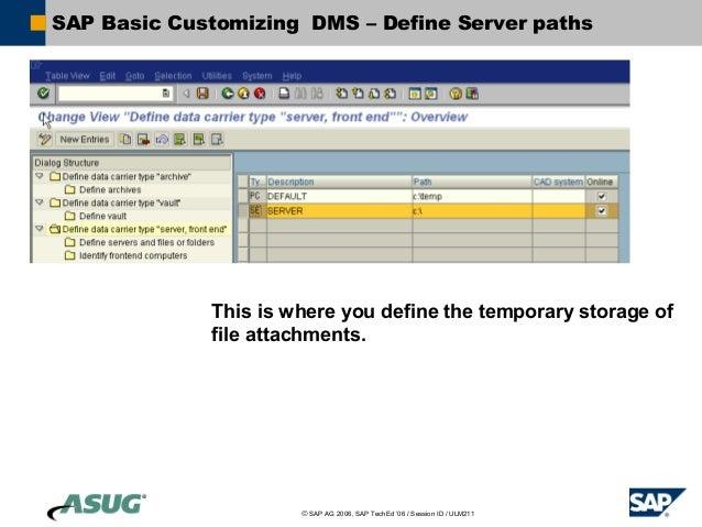 SAP Document Management System Integration with Content Servers