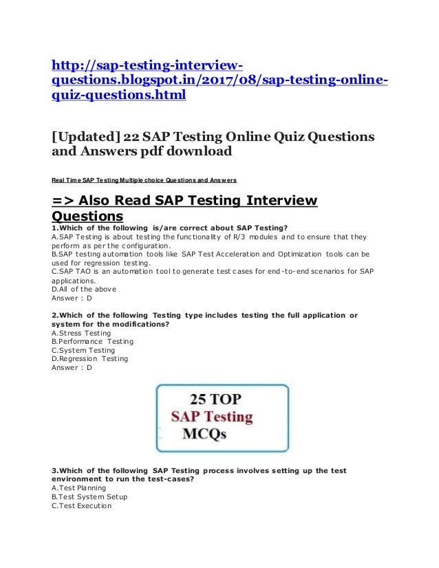 Captivating Http://sap Testing Interview Questions.blogspot.in/ .