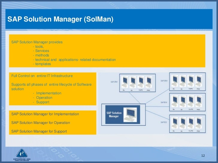 Sap Testing With Solman And Sap Quality Center