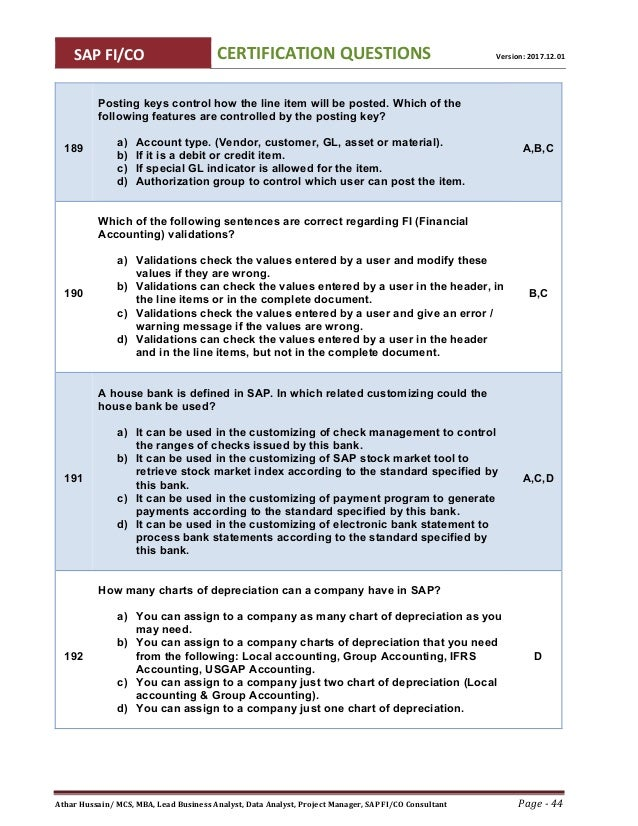 pafane - Sap fico demystified questions and answers pdf