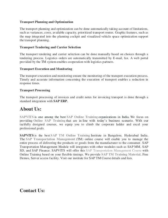 SAP Transportation Management PDF