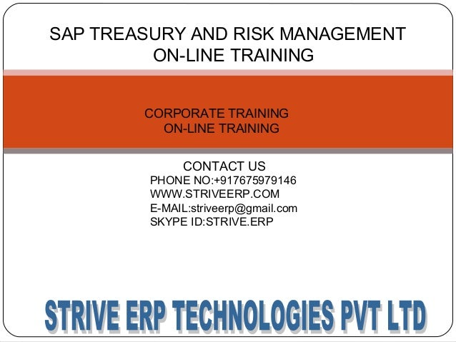 sap treasury and risk management training configuration materials and rh slideshare net Risk Management Handbook Risk Management Handbook