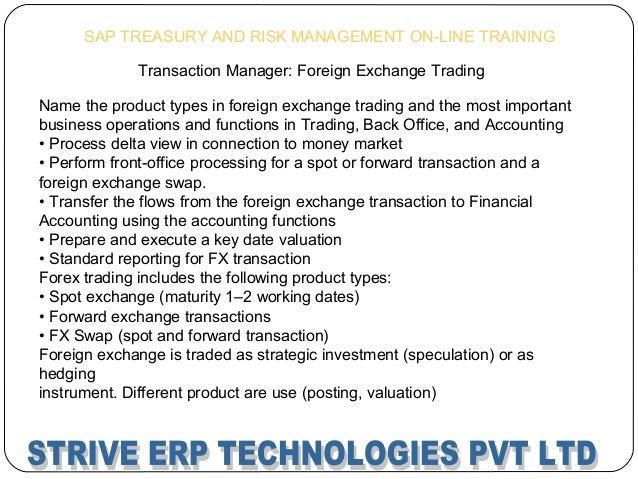 Forex valuation configuration sap