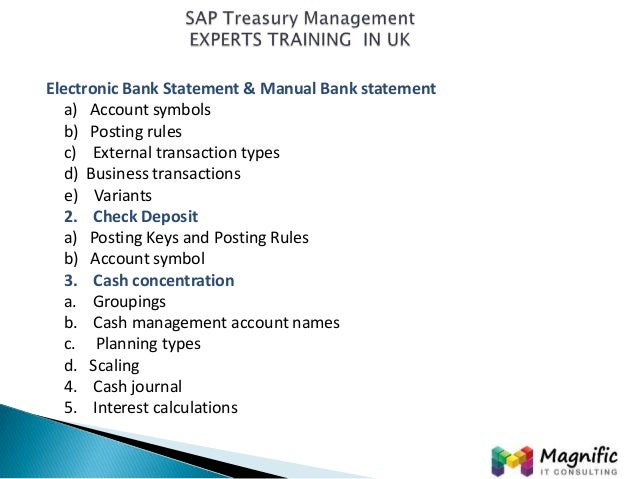 sap treasury and risk management experts training in uk www magnifi rh slideshare net sap treasury and risk management end user manual FDIC Risk Management Manual